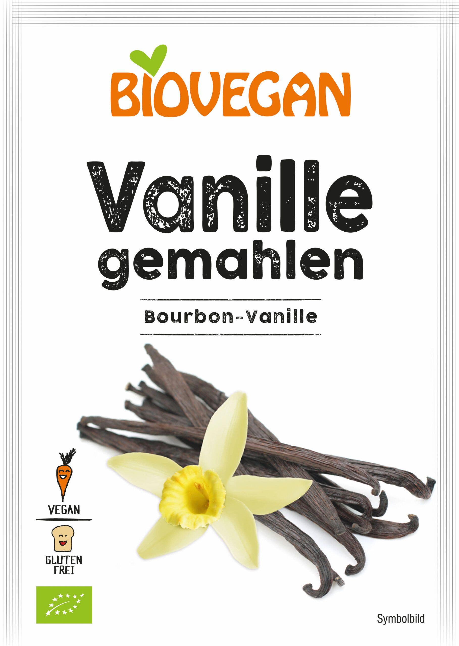 Verpackung Vanille gemahlen mit Bourbon-Vanille