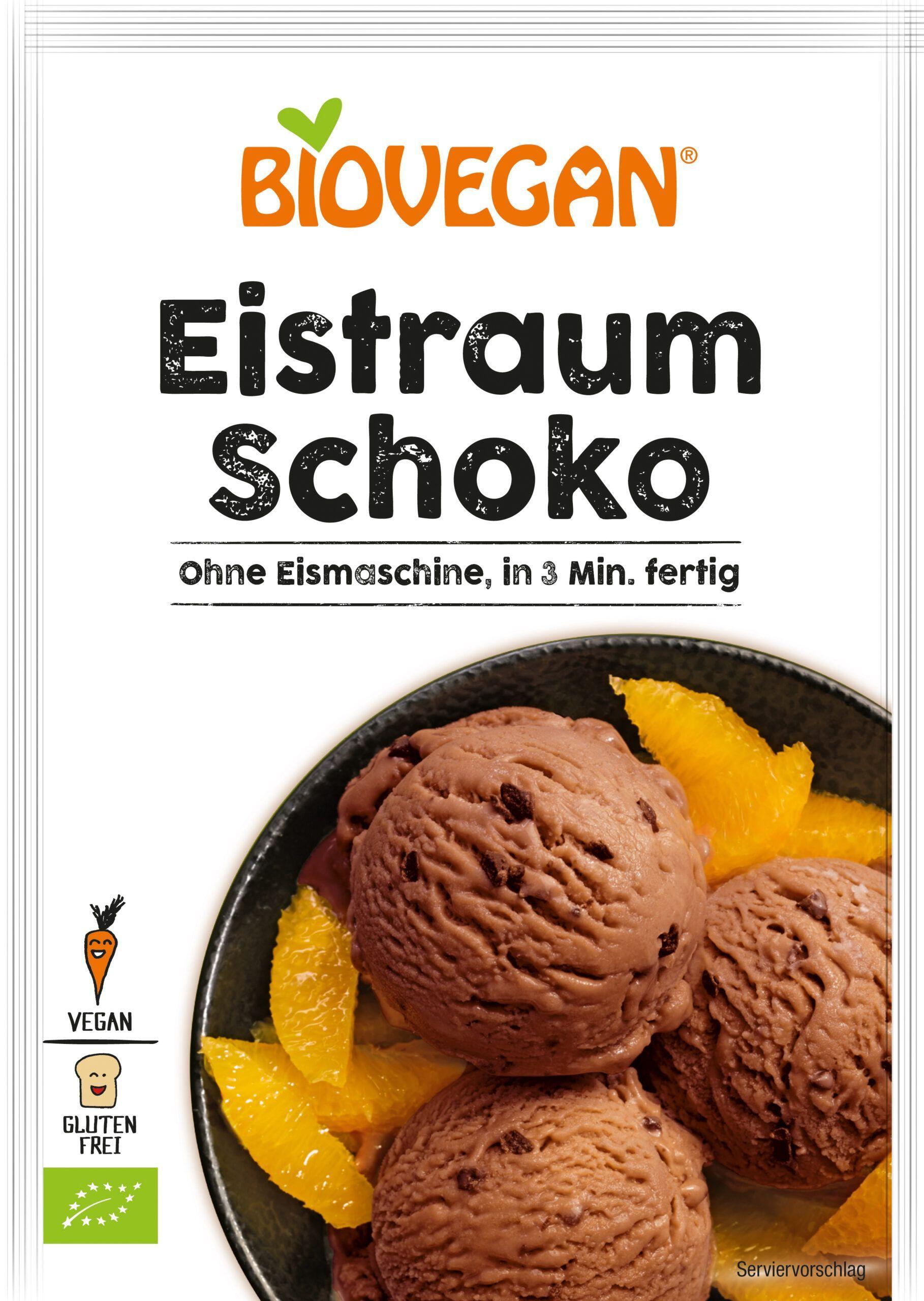 Verpackung Schoko Eis ohne Eismaschine