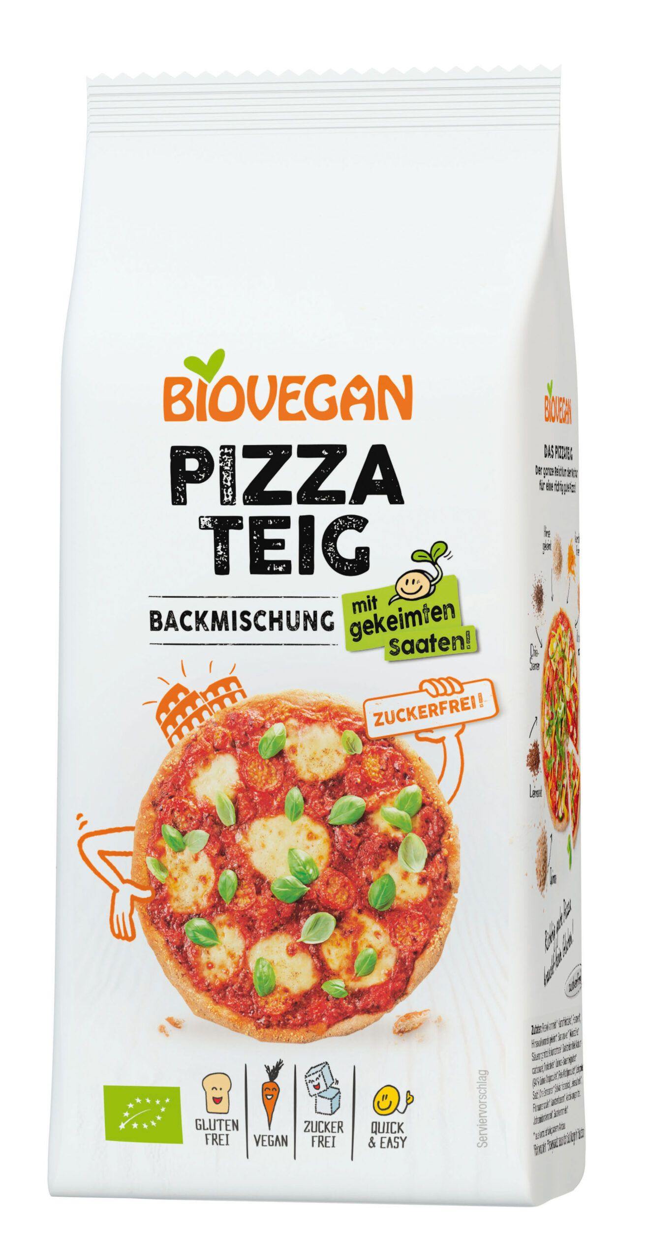Beutel Pizzateig Backmischung