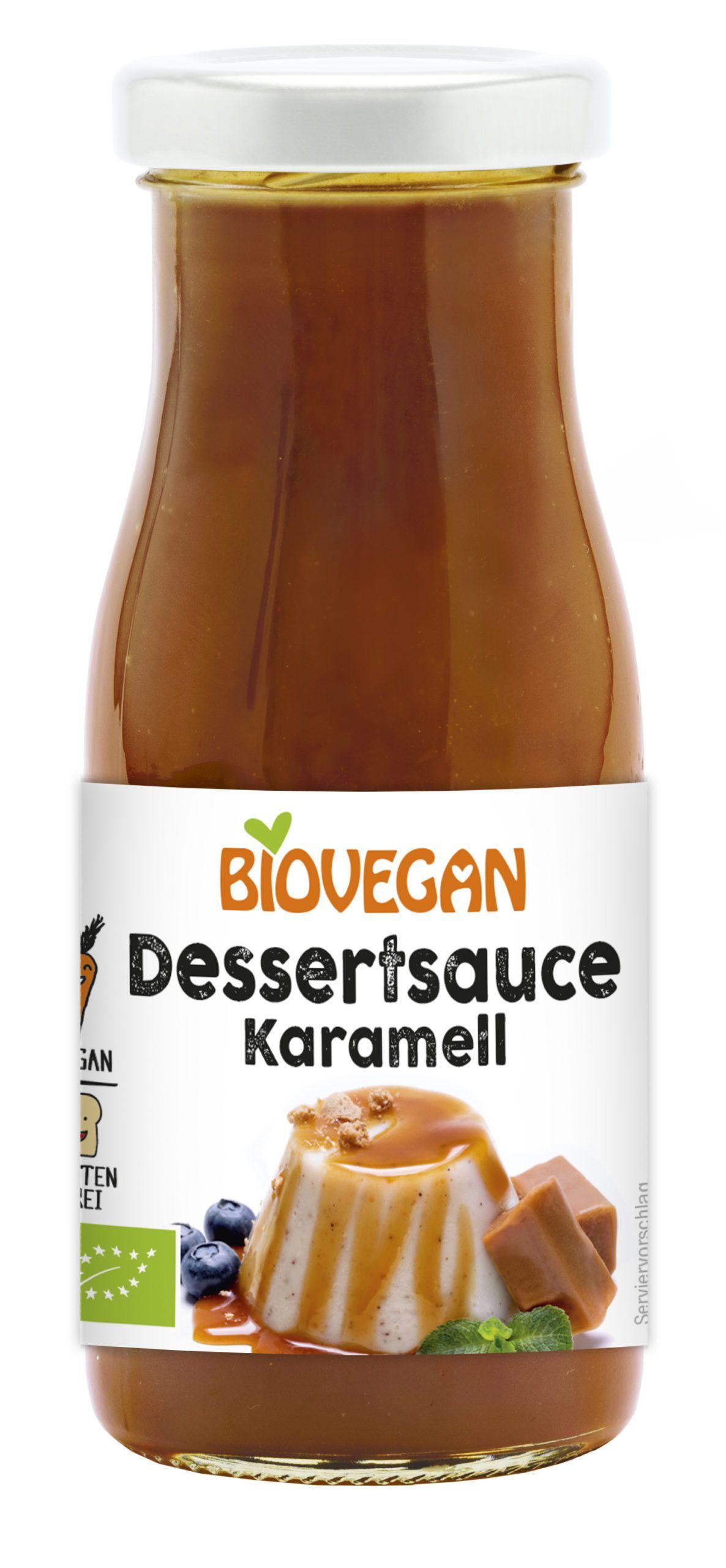 Dessertsauce Karamell in der Glasflasche